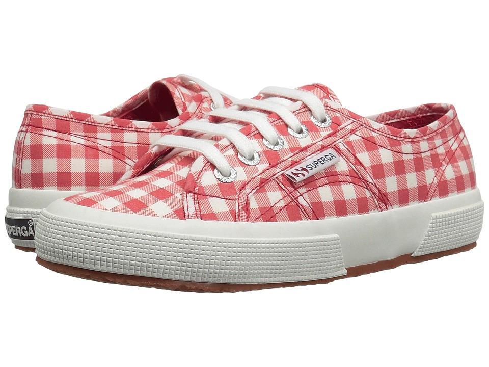 Superga - 2750 Gingham (Red) Women's Shoes