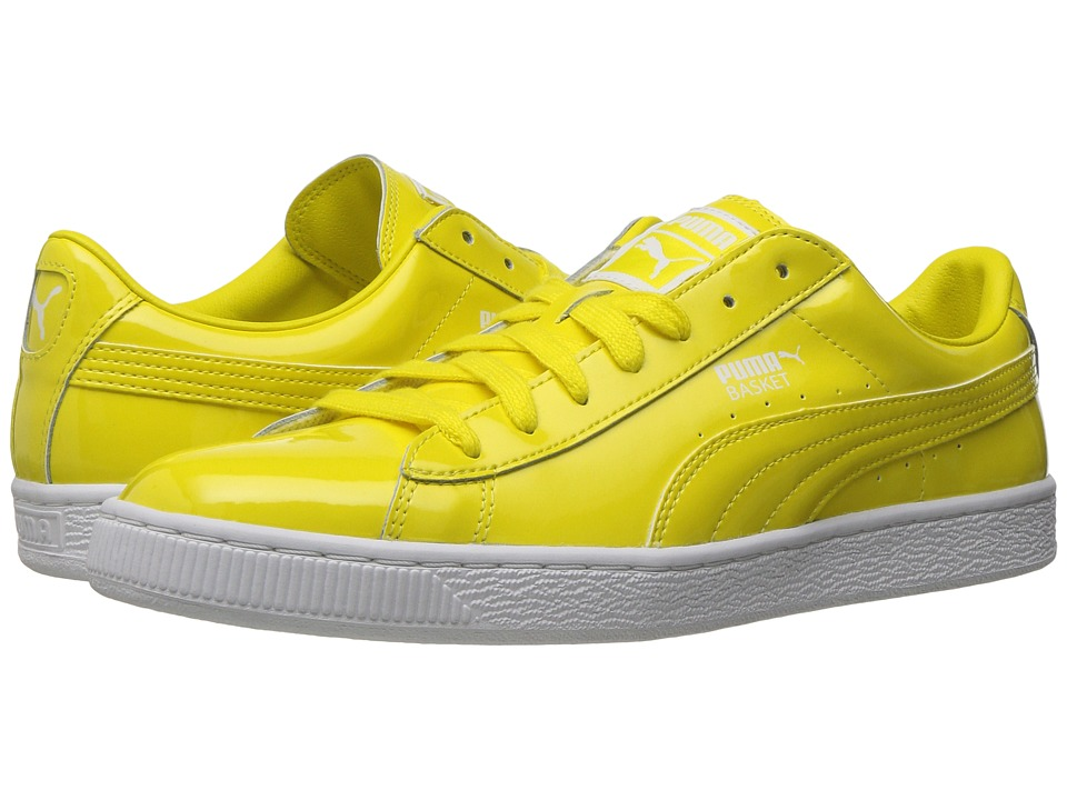 PUMA - Basket Matte Shine (Blazing Yellow/Puma White) Men's Lace up casual Shoes