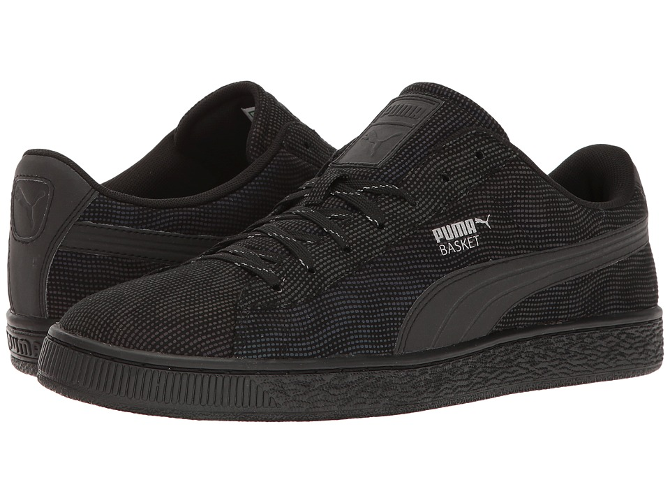PUMA Basket Rainbow Reflective (Black/Dark Shadow) Men