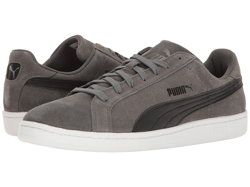 PUMA - Puma Smash Suede Leather (Dark Shadow/Black) Men's Shoes