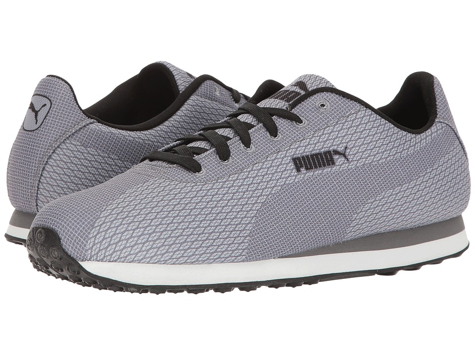 PUMA - Puma Turin Woven Print (Limestone Gray/Steel Gray/Black) Men's Shoes