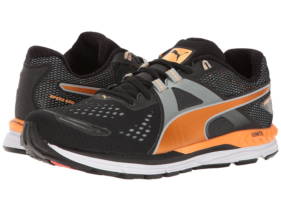 PUMA - Speed 600 Ignite (Black/Quarry/Orange Pop) Men's Shoes