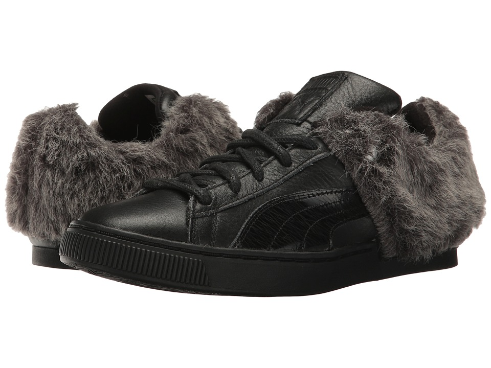 PUMA 50/50 Fur (Black/Puma Silver) Women
