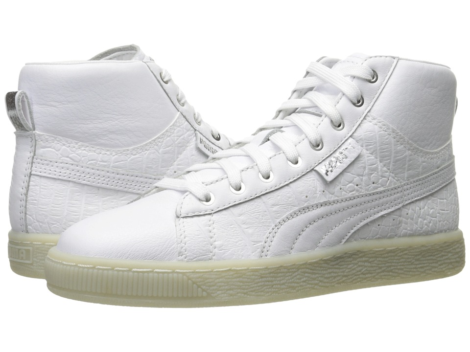 PUMA - Basket Mid Ali (Puma White/Puma Silver) Women's Shoes