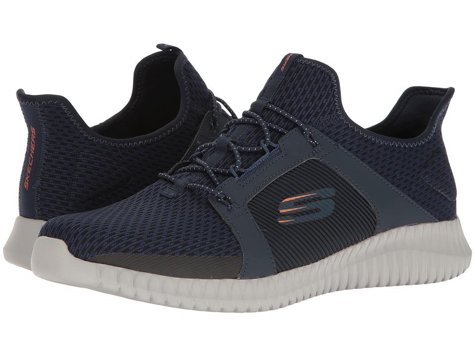 SKECHERS - Elite Flex (Navy/Orange) Men's Lace up casual Shoes