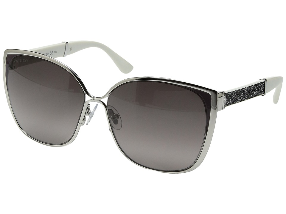 Jimmy Choo - Maty/S (Palladium Gray/Glitter/Mauve Gradient Lens) Fashion Sunglasses