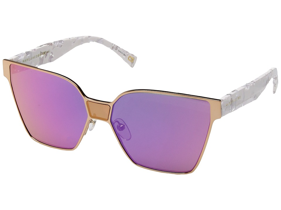Marc Jacobs - Marc 212/S (Gold Black with Multilayer Pink Lens) Fashion Sunglasses
