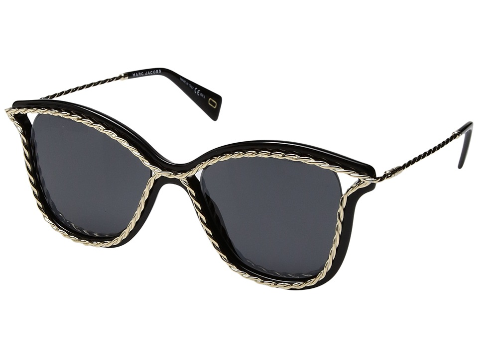 Marc Jacobs - Marc 160/S (Black with Gray Blue Lens) Fashion Sunglasses