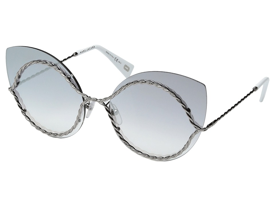 Marc Jacobs - Marc 161/S (Ruthenium with Grey Mirror Silver Lens) Fashion Sunglasses