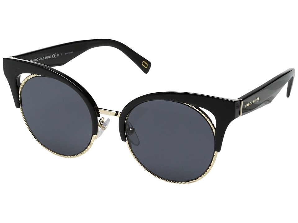 Marc Jacobs - Marc 215/S (Black with Gray Blue Lens) Fashion Sunglasses