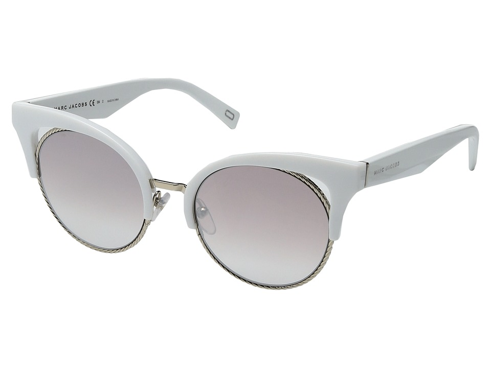 Marc Jacobs - Marc 215/S (White with Brown Gradient Mirror Gold Lens) Fashion Sunglasses