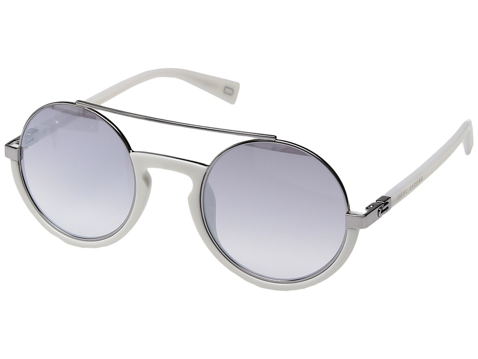Marc Jacobs - Marc 217/S (White with Grey Mirror Silver Lens) Fashion Sunglasses