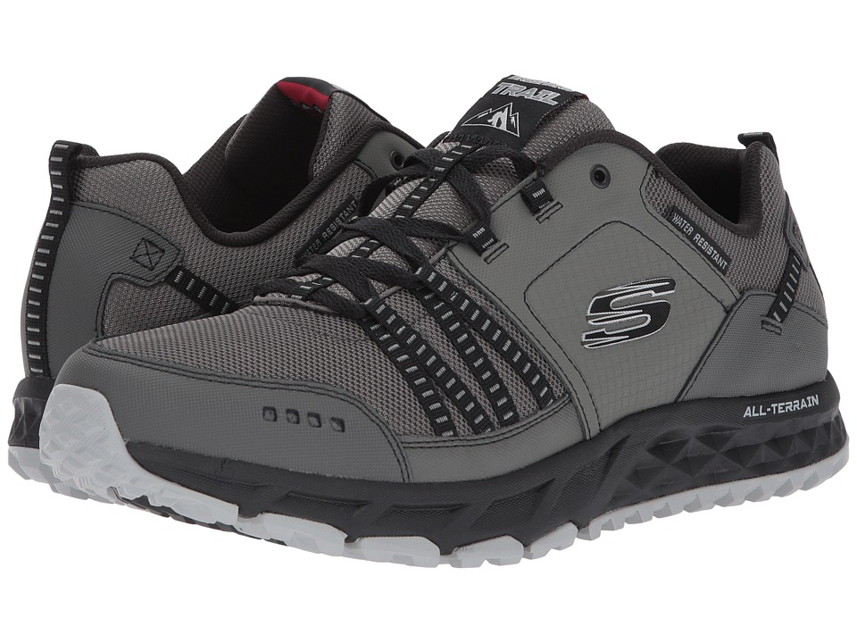 SKECHERS - Escape Plan (Charcoal/Black) Men's Lace up casual Shoes