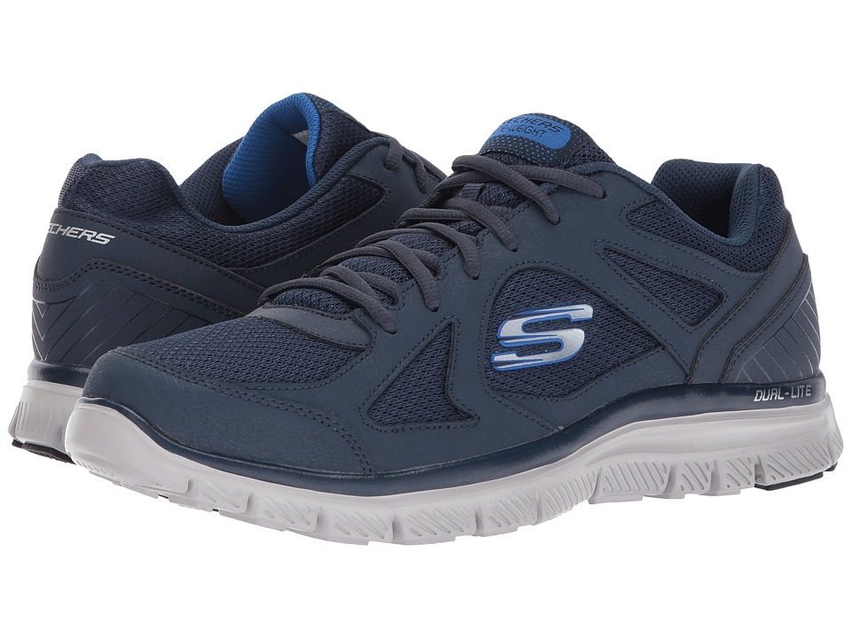 SKECHERS - Flex Advantage 1.0 (Navy/Blue) Men's Lace up casual Shoes
