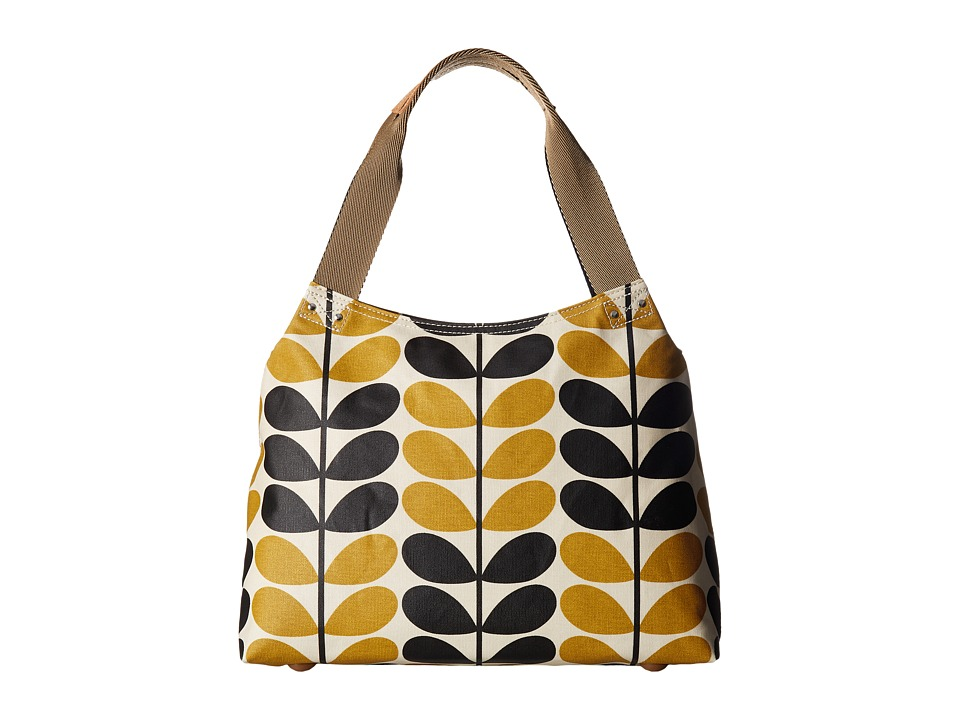 Orla Kiely - Stem Check Print Classic Zip Shoulder Bag (Dandelion) Shoulder Handbags