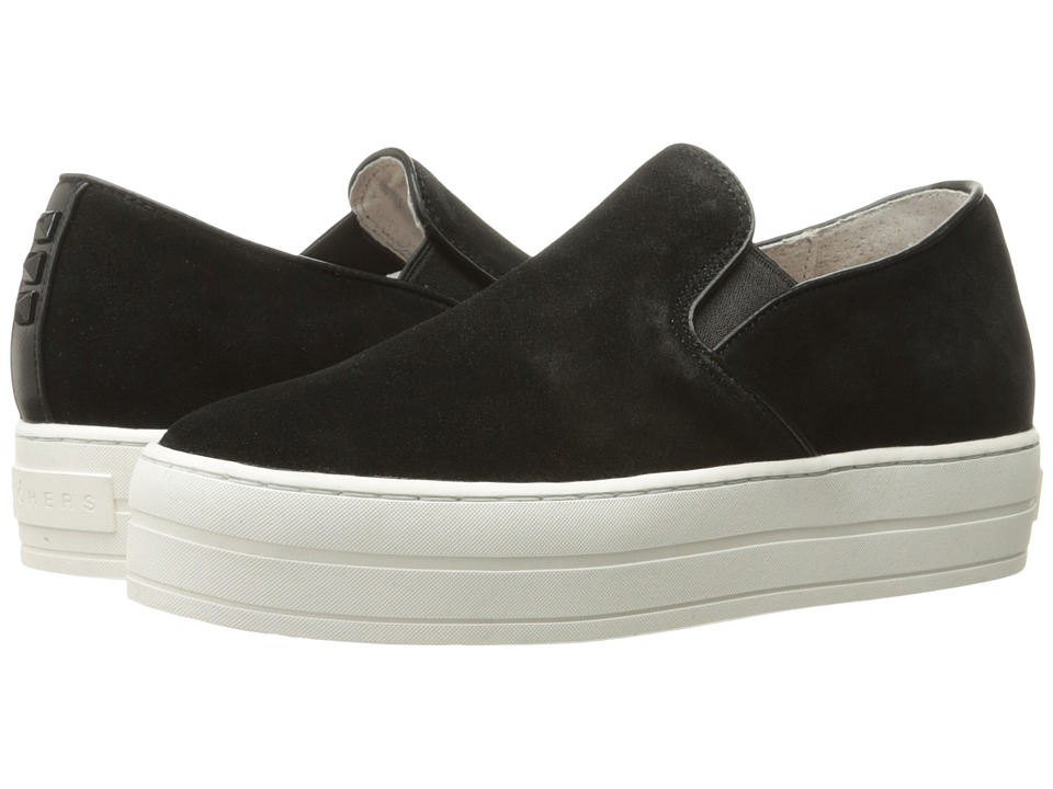 SKECHERS Street - Uplift - Suedeciety (Black) Women's Slip on Shoes
