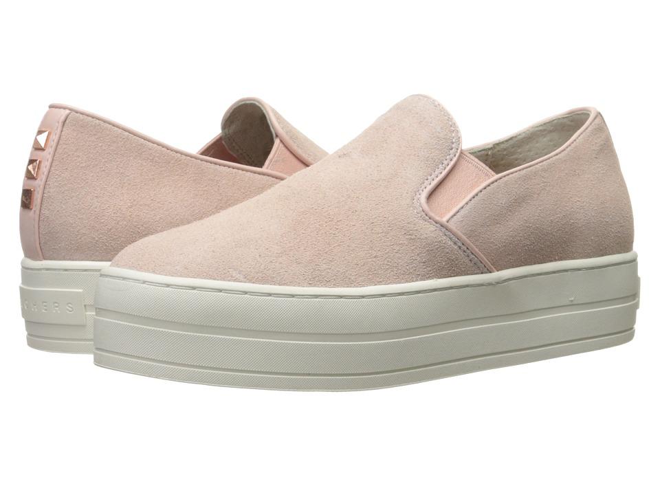 SKECHERS Street - Uplift - Suedeciety (Light Pink) Women's Slip on Shoes