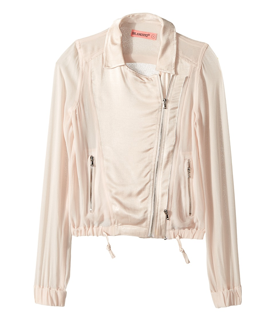Blank NYC Kids Moto Jacket w/ Drawstring Waist (Big Kids) (Blush Pink) Girl