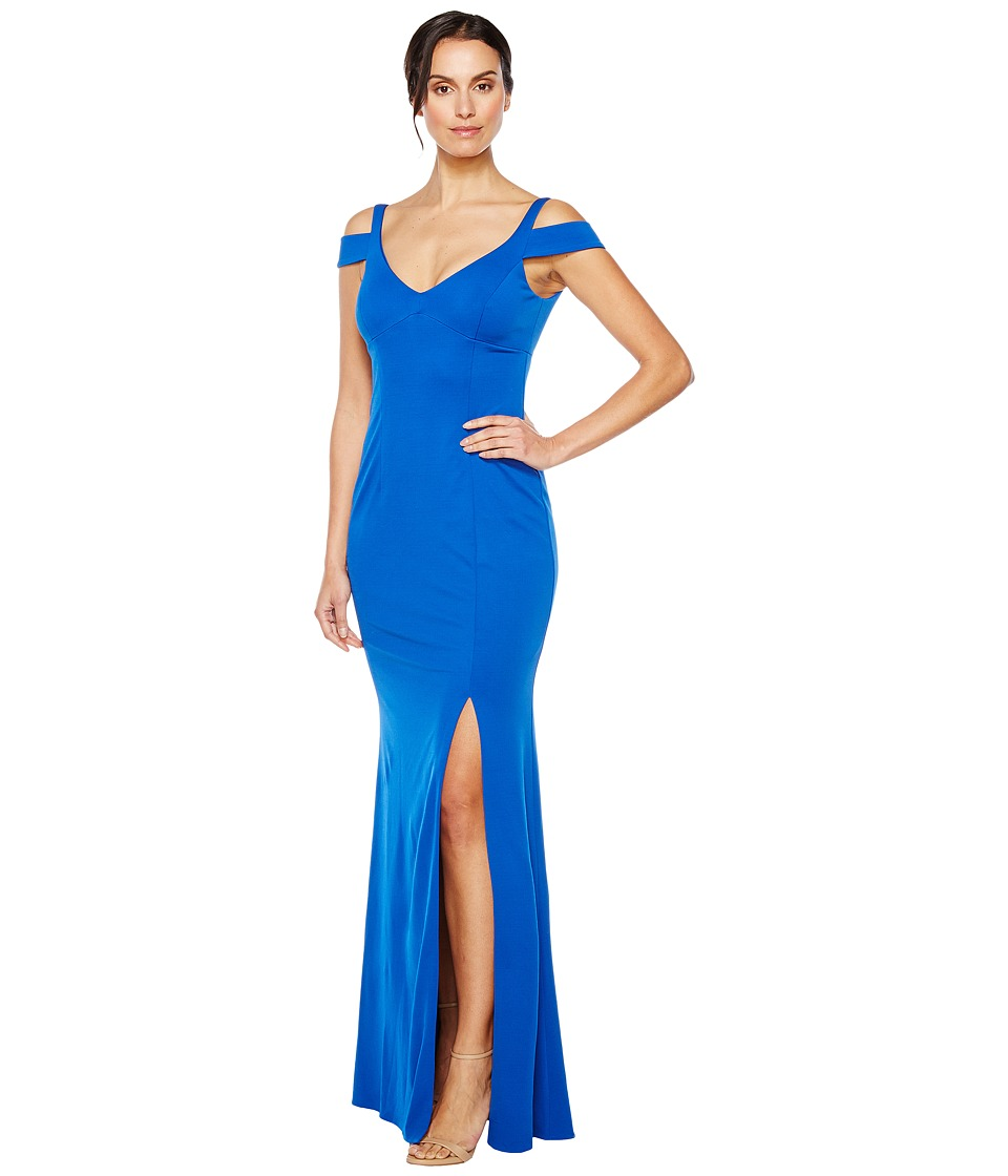 Adrianna Papell Modified Jersey Mermaid Gown (Royal) Women