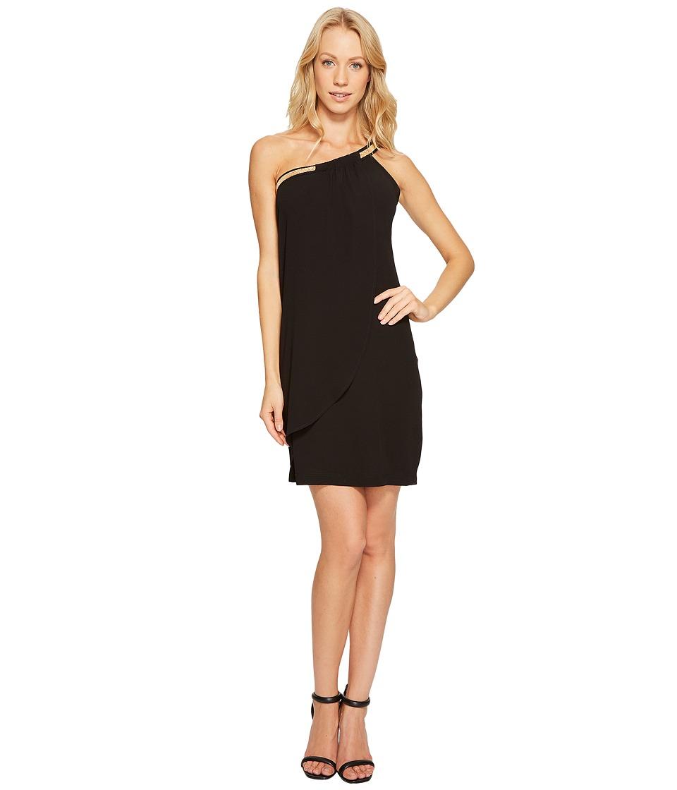 Jessica Simpson - One Shoulder Cocktail Dress JS7A8285 (Black) Women's Dress