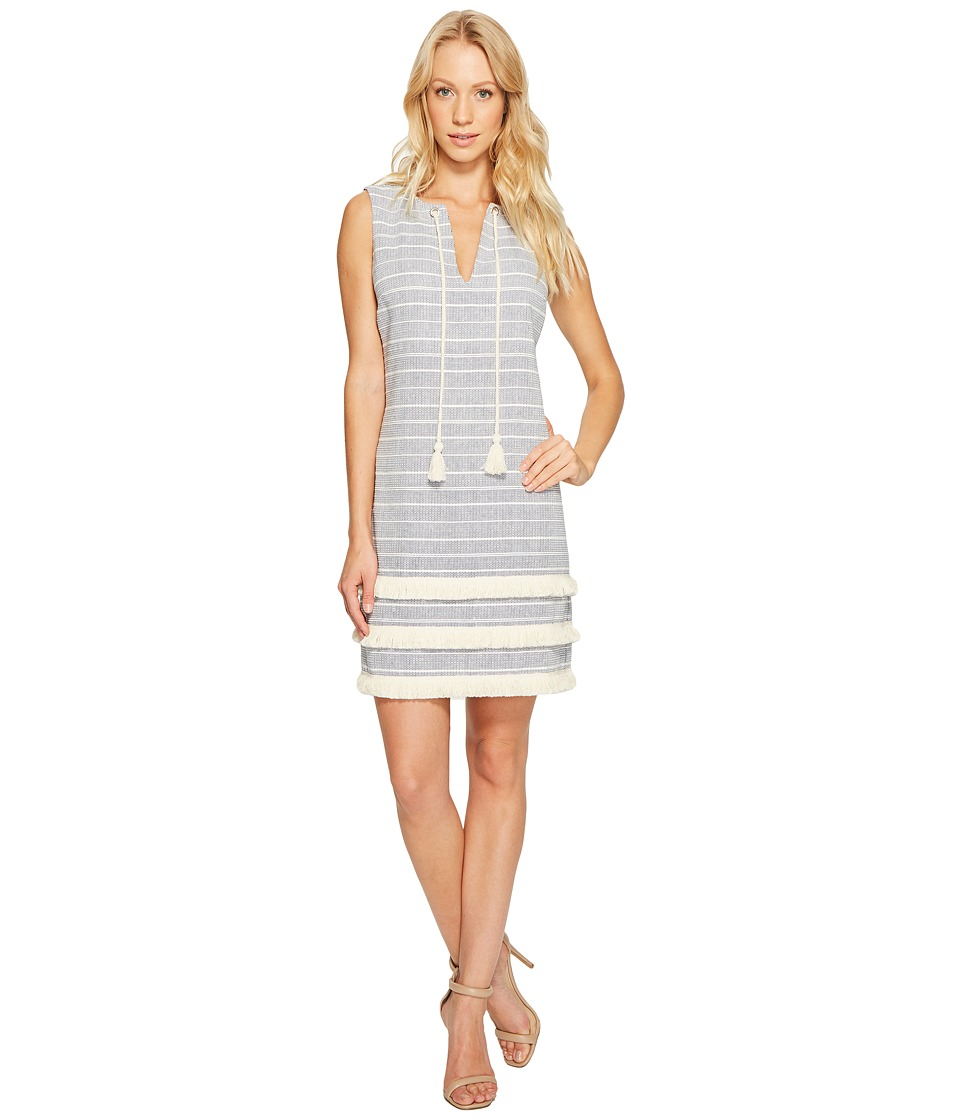 Jessica Simpson - Striped Tweed Shift Dress JS7A8997 (Blue) Women's Dress