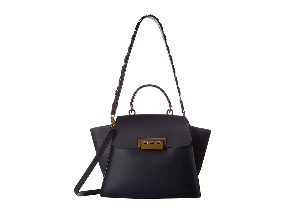 ZAC Zac Posen - Eartha Iconic Top Handle Core with Floral Strap (Blue) Top-handle Handbags