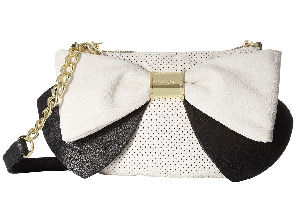 Betsey Johnson - Bow Bow Bow Crossbody (Cream/Black) Cross Body Handbags