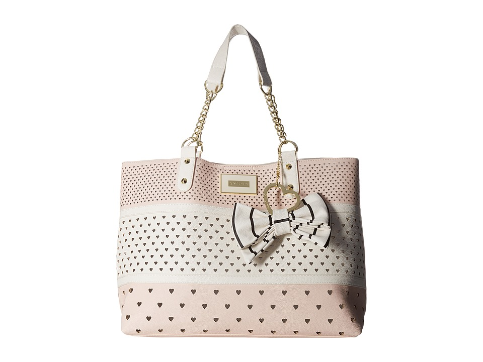 Betsey Johnson - E/W Tote w/ Crossbody (Blush) Cross Body Handbags