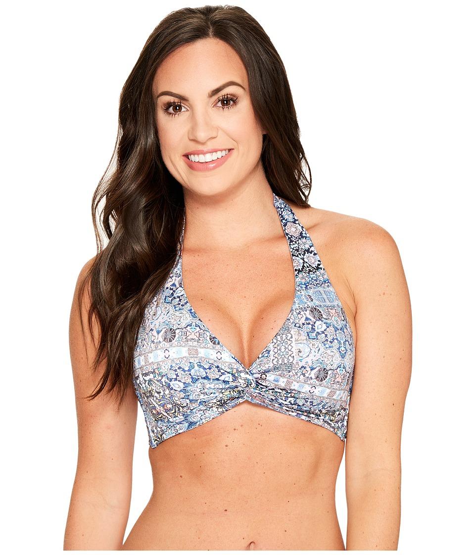 JETS by Jessika Allen - Encounter D-DD Cup Halter Bikini Top (Mazarine) Women's Swimwear