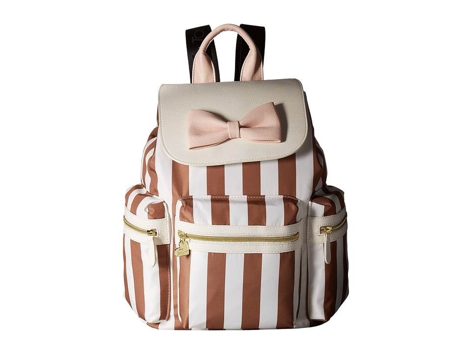 Betsey Johnson - Flap Backpack (Stripe) Backpack Bags