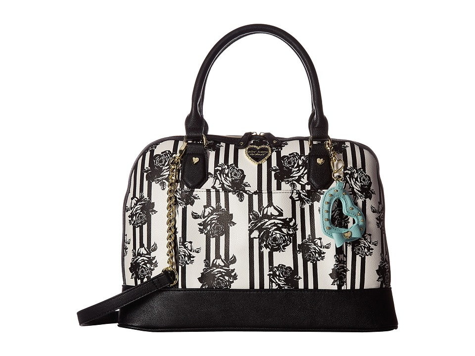 Betsey Johnson - Satchel (Black Floral) Satchel Handbags