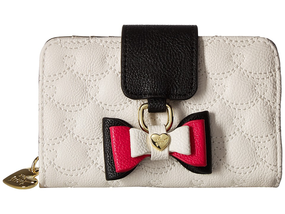 Betsey Johnson - Small Tab Wallet (Cream) Wallet Handbags