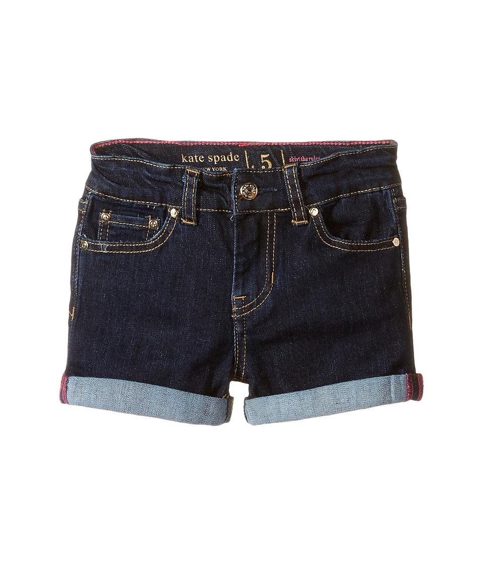 Kate Spade New York Kids - Denim Shorts (Toddler/Little Kids) (Denim Indigo 2) Girl's Shorts