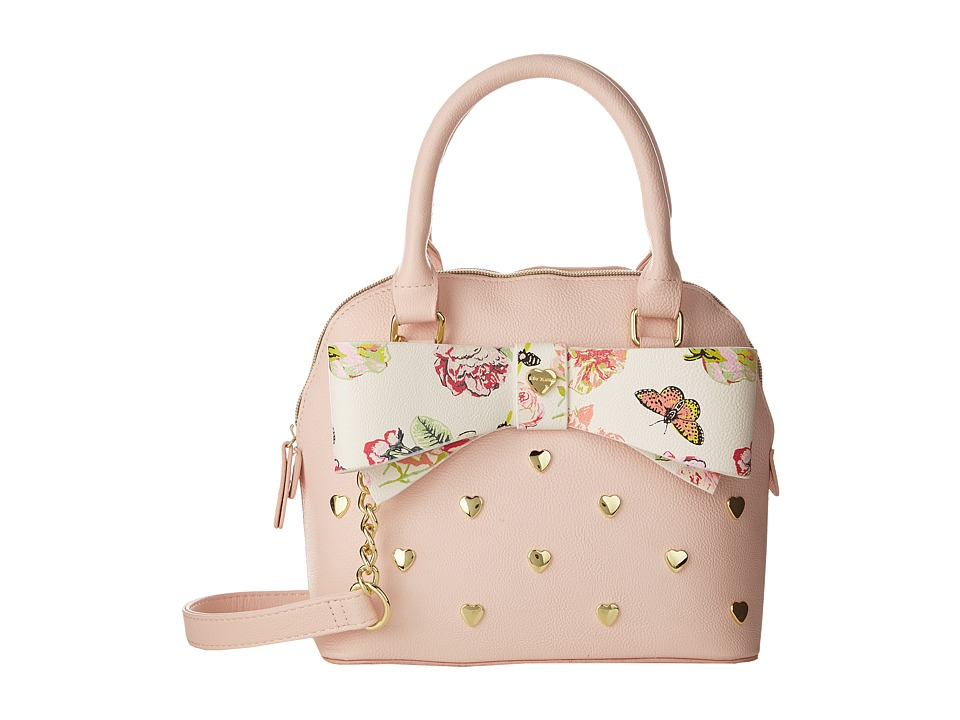 Betsey Johnson - Bow Medium Dome Satchel (Blush) Satchel Handbags