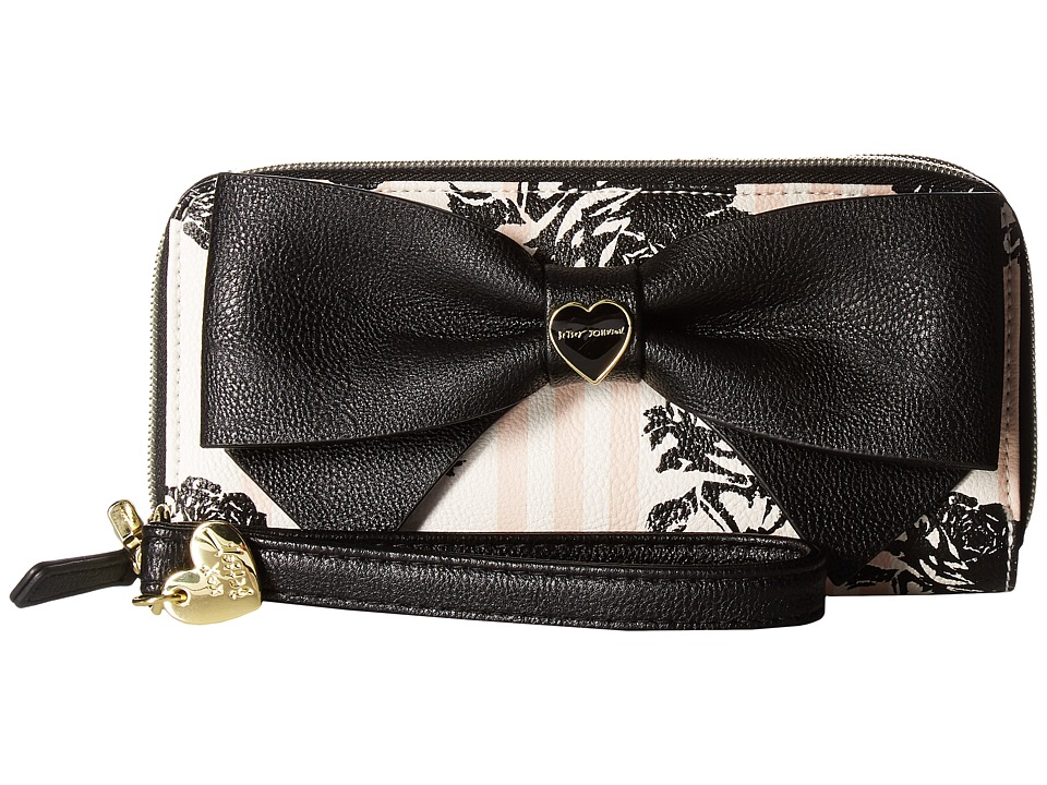 Betsey Johnson - Double Zip Around (Floral) Handbags