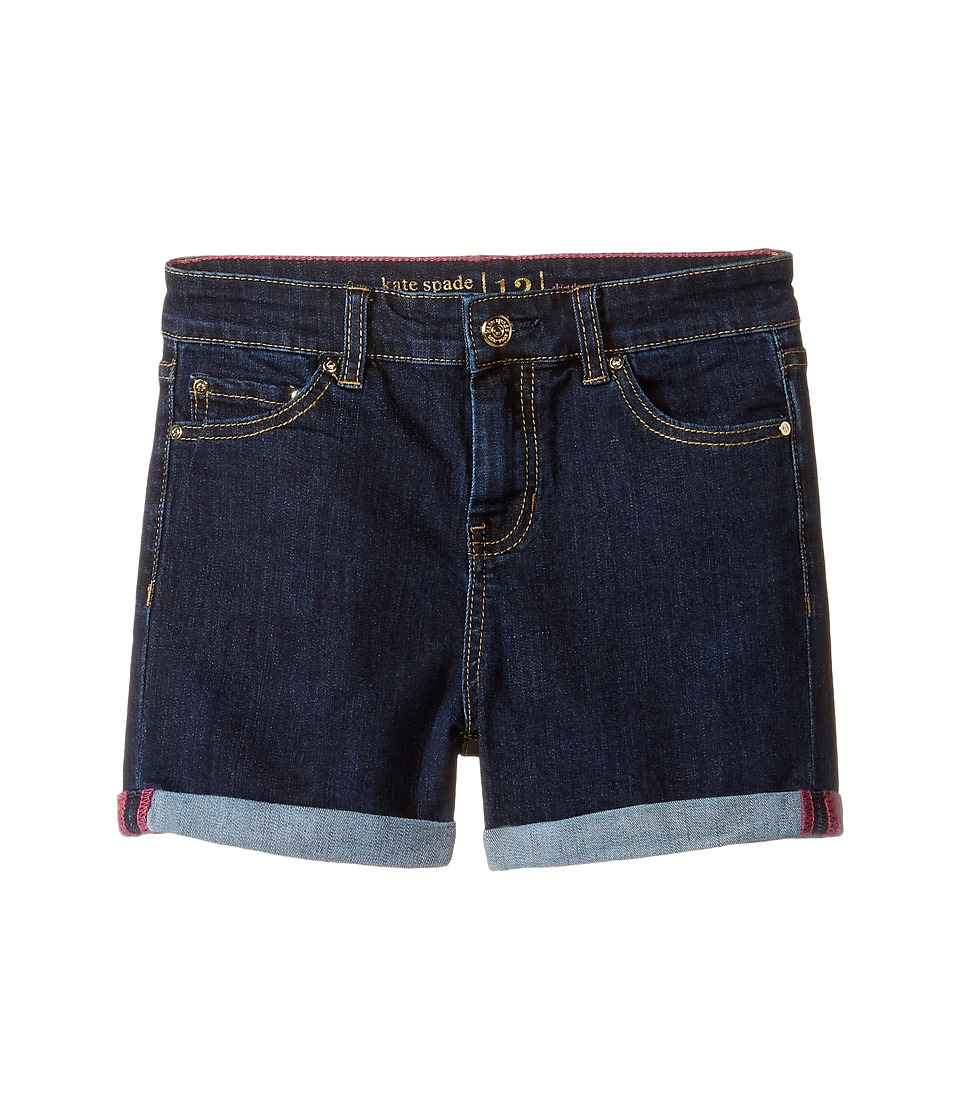 Kate Spade New York Kids - Denim Shorts (Big Kids) (Denim Indigo) Girl's Shorts