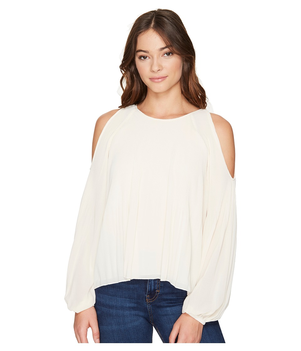ROMEO & JULIET COUTURE - Cold Shoulder Pleated Top (Canvas) Women's Clothing