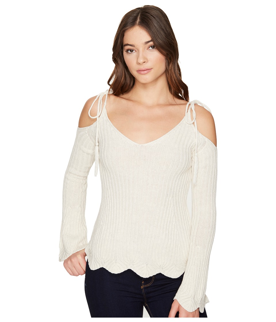 ROMEO & JULIET COUTURE - Cold Shoulder Strap Top (Heather Canvas) Women's Clothing