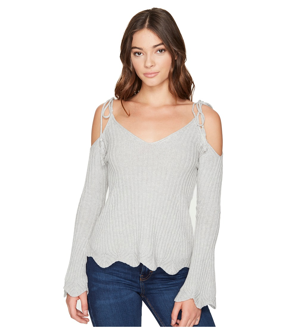ROMEO & JULIET COUTURE - Cold Shoulder Strap Top (Heather Grey) Women's Clothing