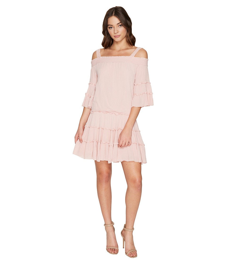 ROMEO & JULIET COUTURE - Off the Shoulder Strap Midi Dress (Dusty Pink) Women's Dress
