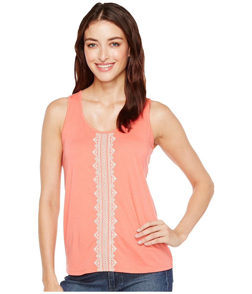 Cruel - Cotton Jersey Tank Top with Embroidery (Pink) Women's Sleeveless