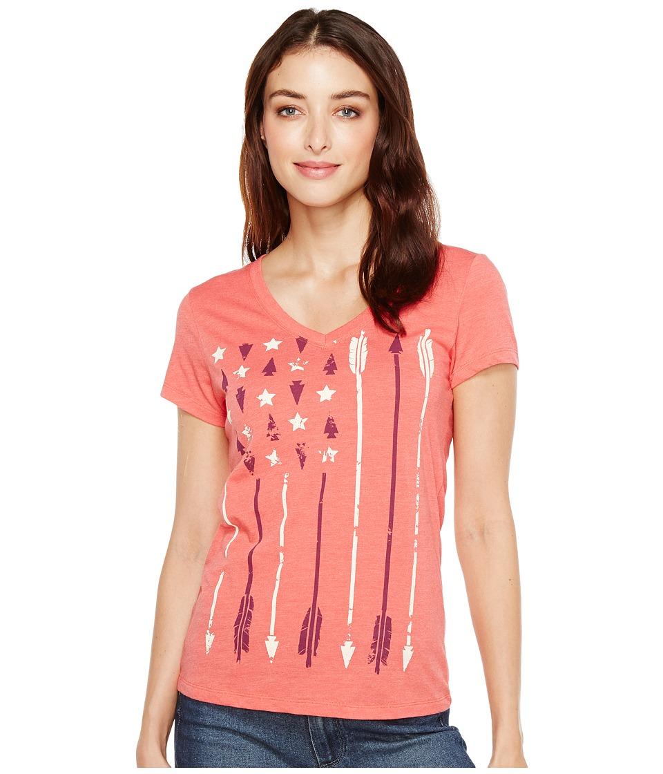 Cruel - Heathered Jersey Screen Print (Pink) Women's T Shirt