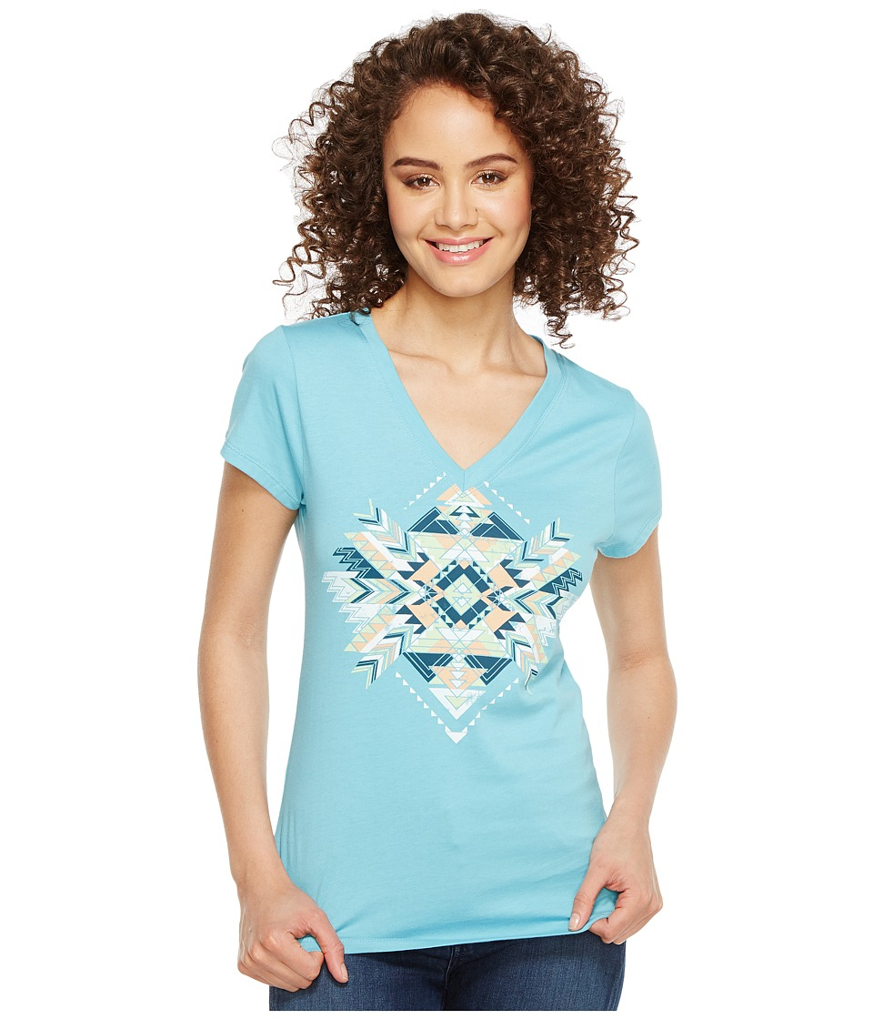 Cruel Long Lean Screen Print Tee (Light Blue) Women