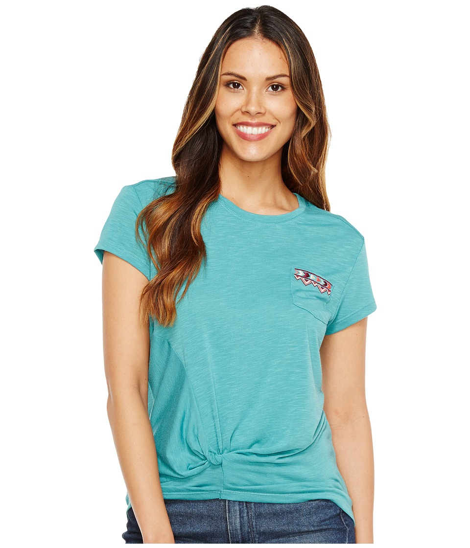 Cruel - Short Sleeve Slub Jersey Tee (Teal) Women's T Shirt