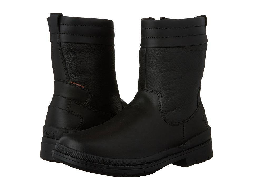 Clarks - Kimball Peak (Black Leather) Men's Boots