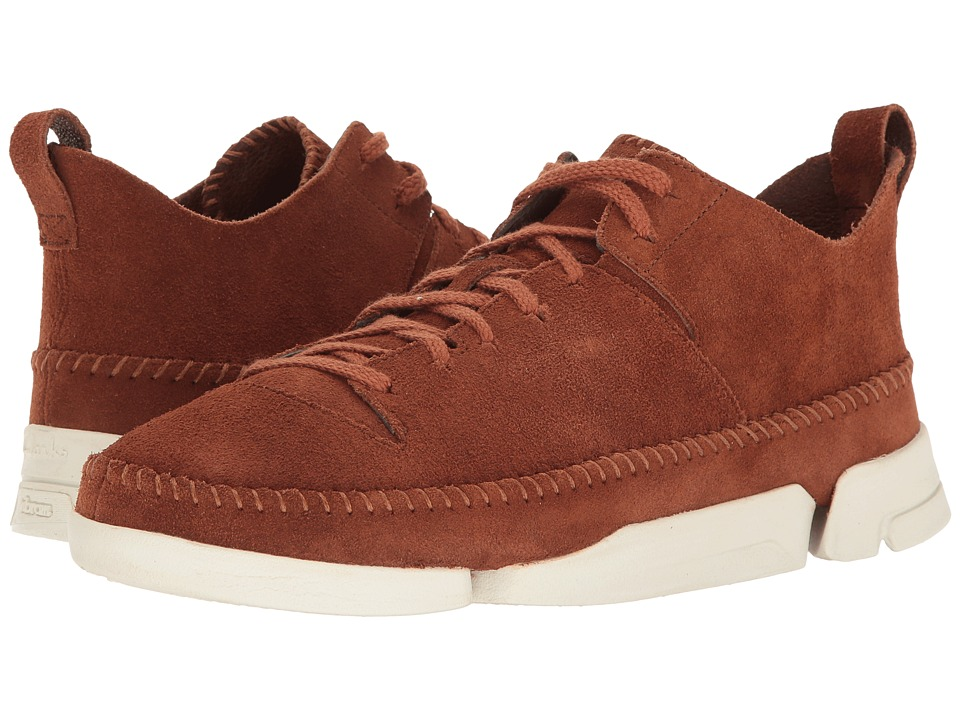 Clarks - Trigenic Flex (Dark Tan Suede) Men's Shoes