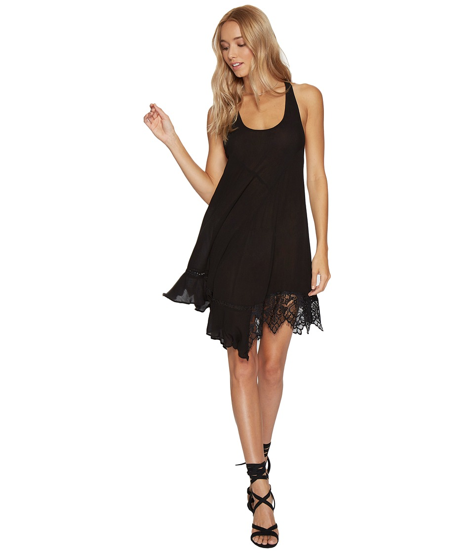 Free People Asymmetrical Hem Slip Black Dress