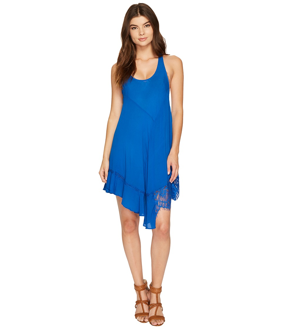 Free People - Asymmetrical Hem Slip (Blue) Women's Dress