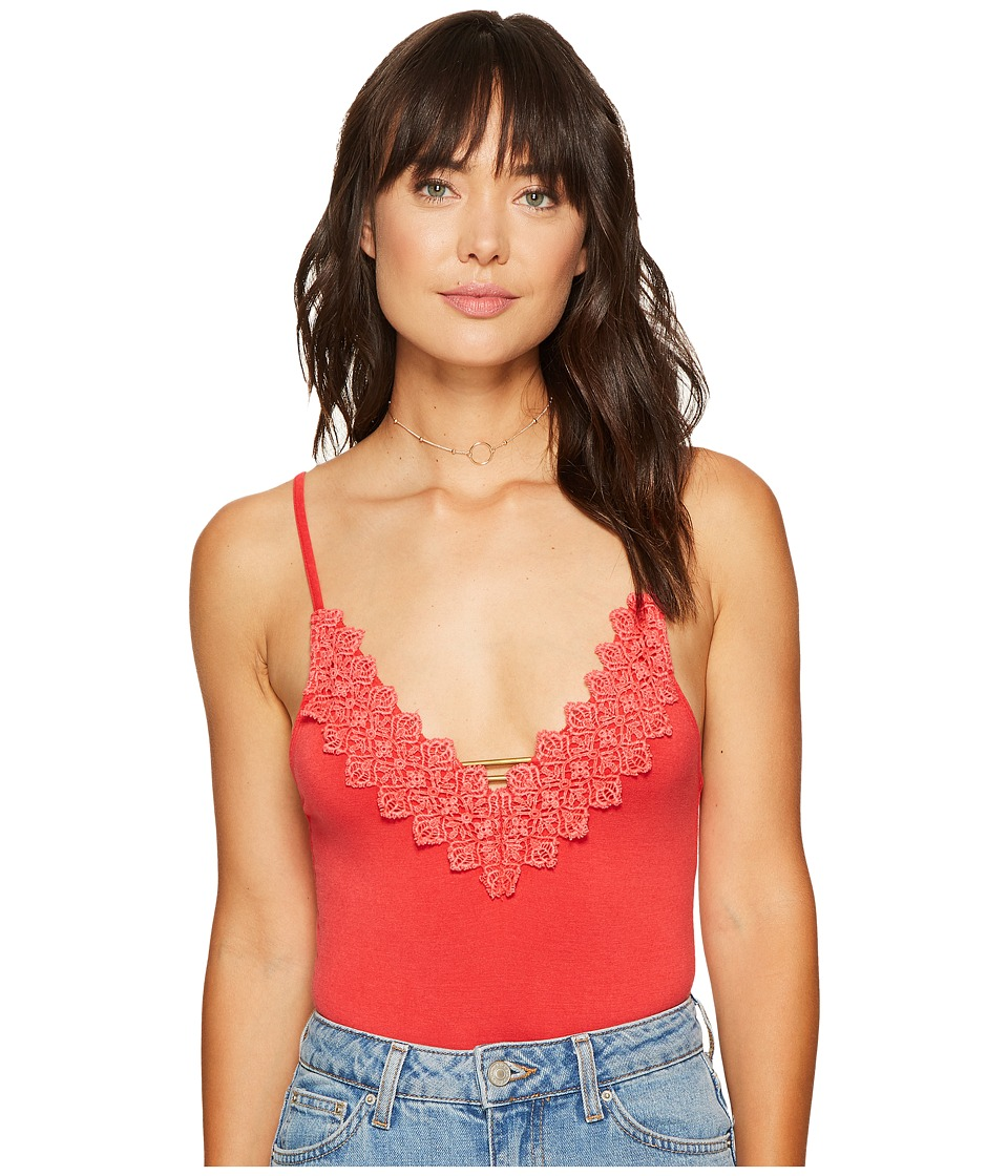 Free People - Gia Bodysuit (Red) Women's Jumpsuit & Rompers One Piece