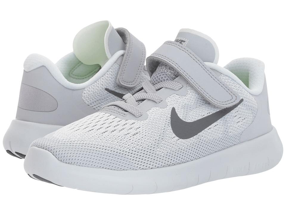 Nike Kids Free RN 2017 (Little Kid) (Pure Platinum/Dark Grey/Wolf Grey) Boys Shoes